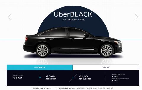 Uber, taxi, tarief, Black, prijs, Amsterdam