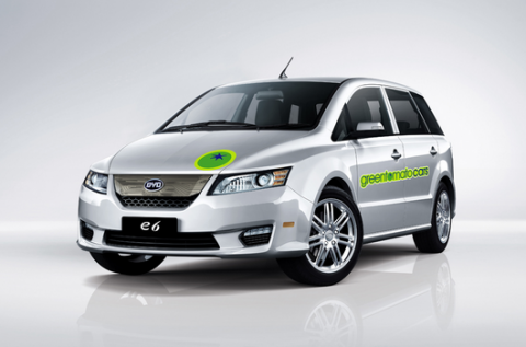 Green Tomato Car, BYD, elektrische taxi, E6