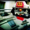 taxi, parijs, Frankrijk, taxibord