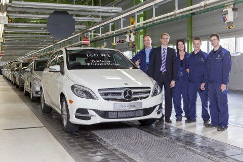 B-Klasse, Electric Drive in Rastatt, elektrische taxi, Mercedes-Benz