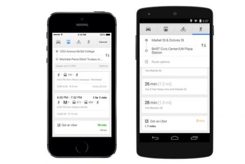 Google Maps, Uber, taxi