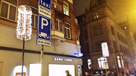 amsterdam, taxi, taxistandplaats, laad- en losplek