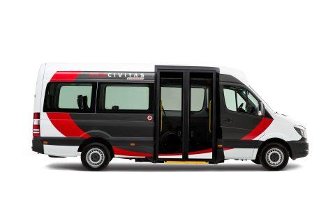 Tribus Civitas Economy, lagevloer, minibus
