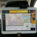 cabture, informatiescherm, taxi, tablet