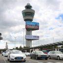 Schiphol, taxi, Tesla, luchthaven