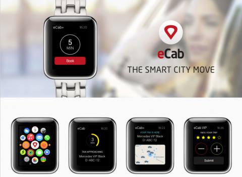 eCab, Apple Watch, app
