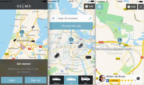 SELMS, taxi-app, taxi bestellen