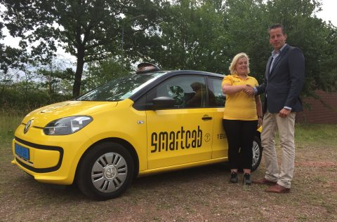 SmartCab Hans Landman van SmartCab en Lilian Hulscher