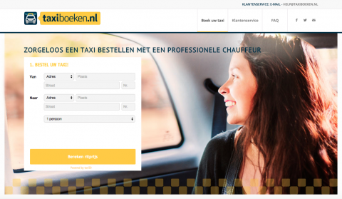 Taxiboeken website