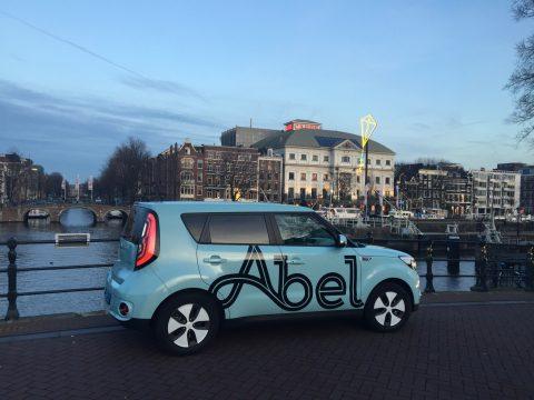 Abel, elektrische taxi, Kia Soul EV, Amsterdam, taxi