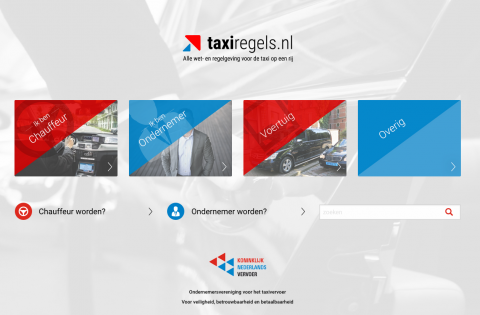 Taxiregels.nl, website KNV
