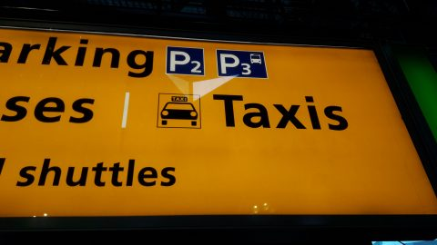 Schiphol taxibord