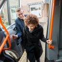 Klant in taxibus geholpen