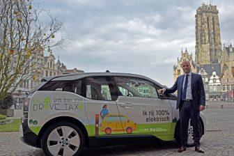 Elektrische taxi Mechelen. Foto: BBL Vlaanderen