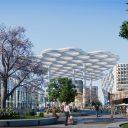Impressie Stationsplein Utrecht. Beeld: CU2030/Ector Hoogstad Architecten.