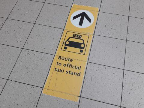 Schiphol, taxi