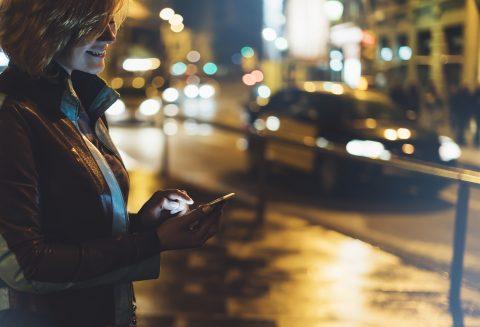 Smartphone, reiziger
