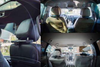 Plexiglas in taxi