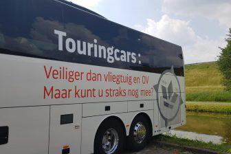 Protest touringcars. Foto: Busvervoer NL