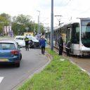 Aanrijding taxibusje en tram (bron: GinoPress)