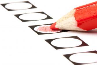 Stemformulier verkiezingen. Foto: iStock